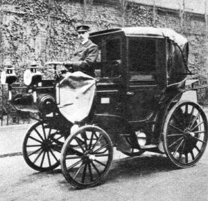The first ever hackney carriage in england